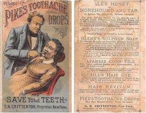 Victorian Trade Card Approx size inches = 3 x 4.75 Pre 1900 a lot of wear, st...