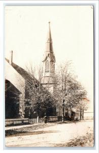 Postcard Large Church 1899-1905 era RPPC I12