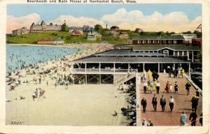 MA - Nantasket Beach. Boardwalk and Bath House