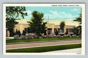Superior NE, Superior South School, Vintage Nebraska Postcard
