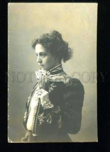135011 KOMMISSARZHEVSKAYA Russia DRAMA Actress Flowers Photo