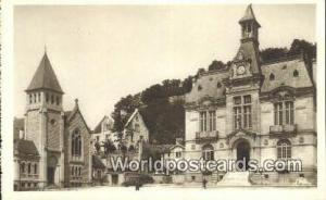 Chateau-Thierry, France, Carte, Postcard Hotel de Ville et Temple Protestant ...