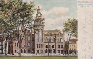 Connecticut New Haven County Court House And City Hall