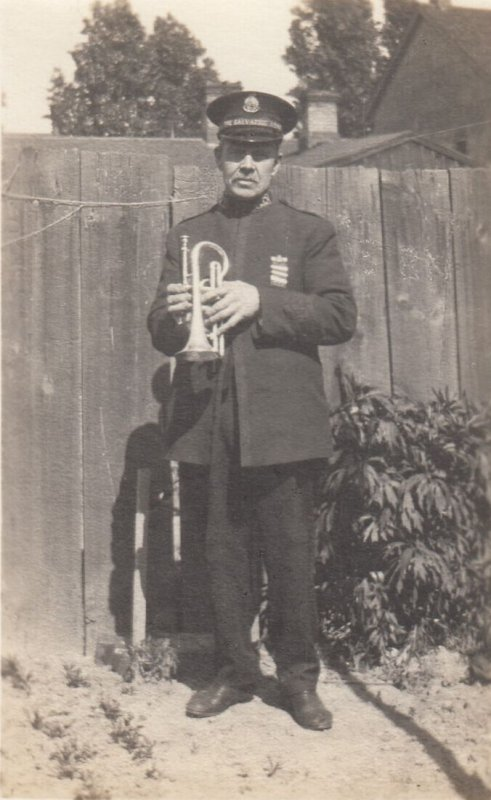 RP; Salvation Army trumpet player , Toronto , Ontario , Canada , 00-10s