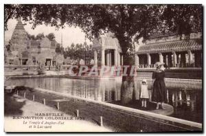 Marseille - Exposition Coloniale 1922 - The Temple Wat & # 39Angkor - Old Pos...