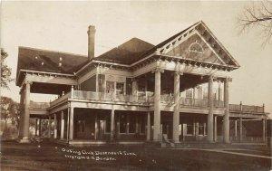 H47/ Davenport Iowa RPPC Postcard c1910 Outing Club Building