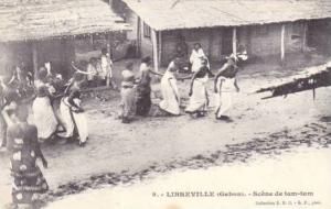Scene De Tam-Tam, Libreville, Gabon, Africa, 1900-1910s