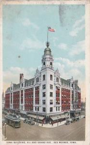 Iowa Des Moines The Iowa Building 6th and Grand Avenue 1926 Curteich