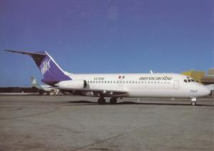 AEROCARIBE, DC-9-14, unused Postcard