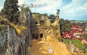 Netherlands Valkenburg Ruine Castle Ruins Village Church Partial view Postcard