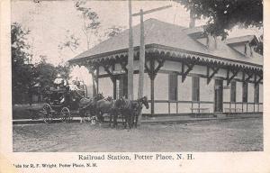 Potter Place NH Railroad Station Train Depot Postcard