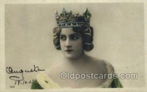 Foreign Film Stars 1903 postal used 1903, tab marks from being in album