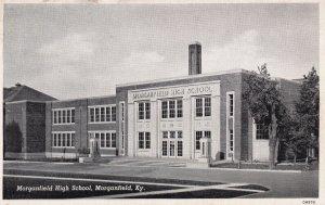 MORGANFIELD, Kentucky, 1930s; Morganfield High School