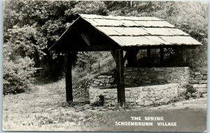 New Philadelphia, Ohio Postcard The Spring Schoenbrunn Village Roadside c1950s