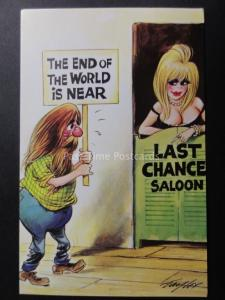 Taylor: Bamforth & Co THE END OF THE WORLD IS NEAR - LAST CHANCE SALOON!!