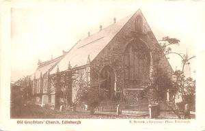 Scotland, UK Old Vintage Antique Post Card Old Grefriars' Church Edinbur...