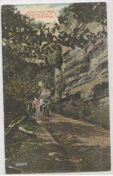 Indian Ladder Road Thompsons Lake NY -vintage-