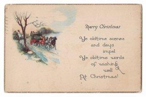 Merry Christmas Vintage Postcard 01.14