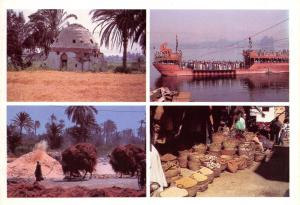 Egypt Postcard, Scenes from Luxor, River Nile, Market, Camels, Multi View 17A