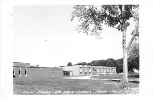 Iowa Falls Iowa~Junior High School Building & Grounds~Cars in Driveway~'50s RPPC