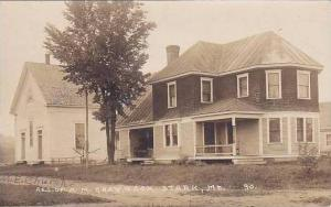 Maine Stark Residence Of A M Gray & Son 1929 Real Photo RPPC