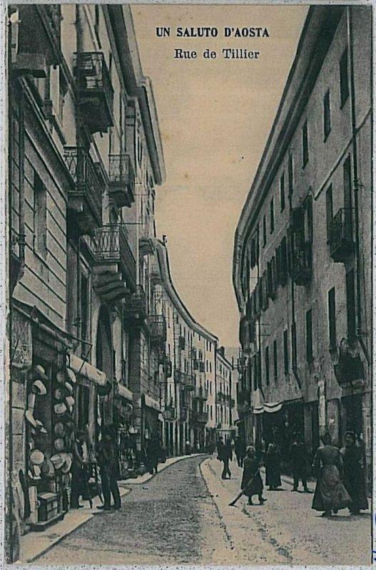 CARTOLINA d'Epoca AOSTA Città - RUE DE TILLIER