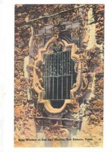 Rose Window of San Jose Mission, San Antonio, Texas, 30-40s
