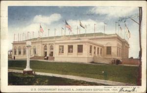 1907 Jamestown Expo #181 Gov't Bldg Used w/ Expo Cancel Postcard/Cover