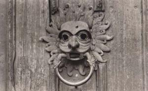 Durham Cathedral The Sanctuary Knocker Real Photo Postcard