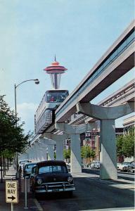 WA - Seattle, 1962. Seattle World's Fair (Century 21 Exposition). Alweg Monorail