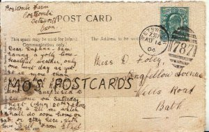 Genealogy Postcard - Foley - 9 Longfellow Avenue - Wells Road - Bath - Ref 9201A