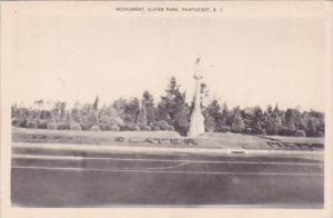 Rhode Island Pawtucket Monument Slater Park