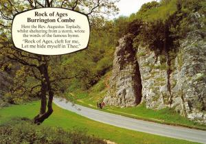 Burrington Combe Postcard, Rock of Ages Augustus Toplady by J. Salmon Ltd O51