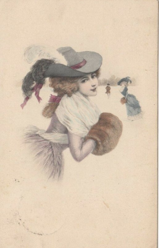 M.M.VIENNE Nr. 538 , 1910, Female Portrait