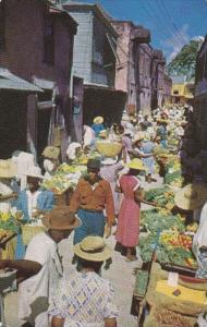 Vegetable Market, Bridgetown, Barbados, BWI, 1960-70s