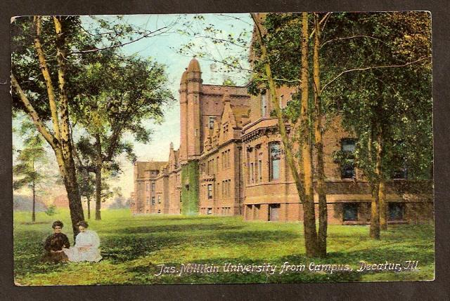 POSTCARD-VINTAGE - Jas. Millikin University - Decatur, IL