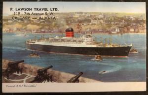 Mint Canada PPC Picture Postcard Cunard RMS Carinthia Passenger Ship Calgary Alb