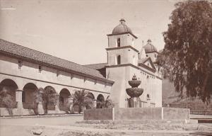 Mission at Santa Barbara California 1915 Real Photo