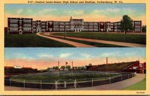 West Virginia Parkersburg Central Junior-Senior High School and Stadium Curteich