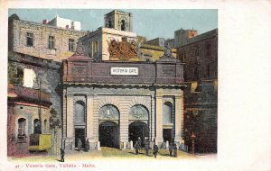 Victoria Gate, Valletta, Malta, Early Postcard, Unused