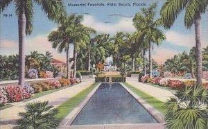 Florida Palm Beach Memorial Fountain