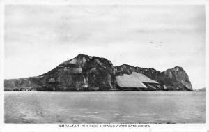 Gibraltar - The Rock showing water catchments