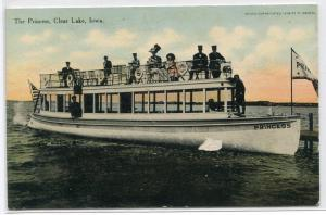 The Princess Motor Launch Boat Clear Lake Iowa 1910c postcard