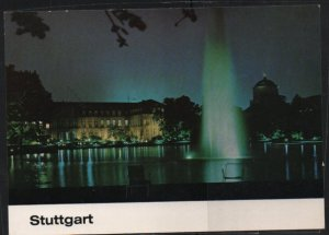 Post Card Stuttgart Germany  Theatre Lake & New Castle