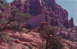 Chapel of the Holy Cross - Sedona AZ, Arizona - pm 1968