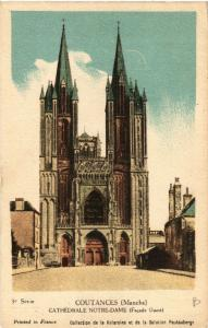 CPA  Coutances - Cathedrale Notre-Dame - Facade Ouest  (632873)