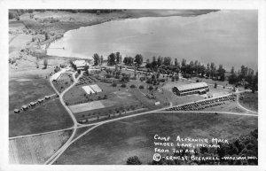 Wabe Lake Indiana Camp Alexander Mack Real Photo Vintage Postcard JH230135
