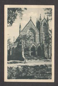 NB St Bernards R C Church MONCTON NEW BRUNSWICK Canada Carte Postale Postcard