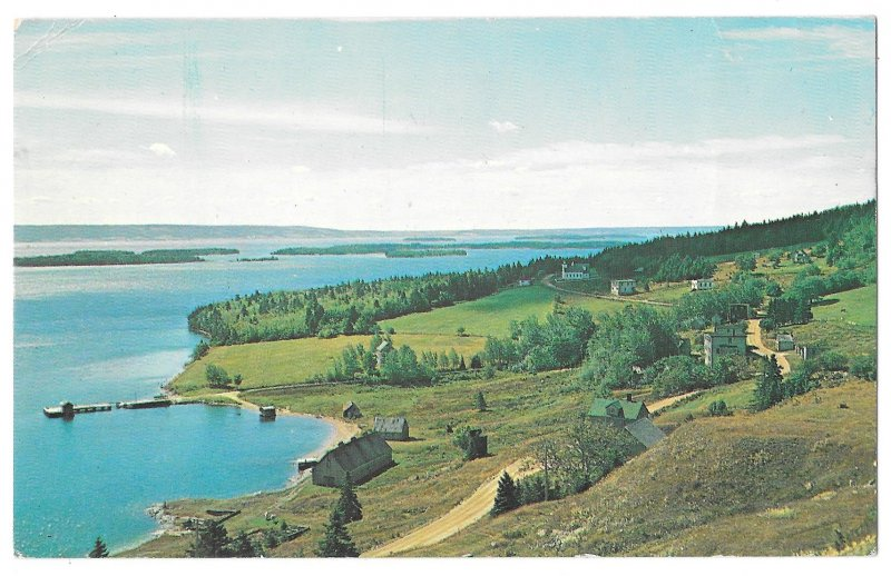 Canada Marble Mountain Bras D'Or Lake Cape Breton Nova Scotia Vntg 60s Postcard