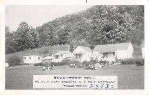 Oneonta Maryland Blue Moon Rest Street View Antique Postcard K42935
